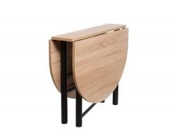 Кухонный стол -книжка Рим овальный дуб сонома
