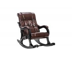 Кожаное кресло -качалка 77