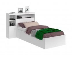 Кровать Виктория белая 90 с блоком, 1 тумбой и матрасом ГОСТ