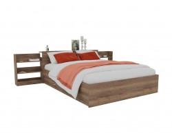 Кровать Доминика с блоком и ящиком 140 (Дуб Золотой) с матрасом