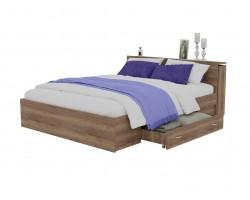 Кровать Доминика с блоком и ящиками 140 (Дуб Золотой) с матрасом