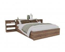 Кровать Доминика с блоком и ящиками 160 (Дуб Золотой) с матрасом